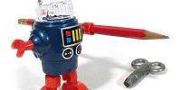 Wind Up Pencil Robots