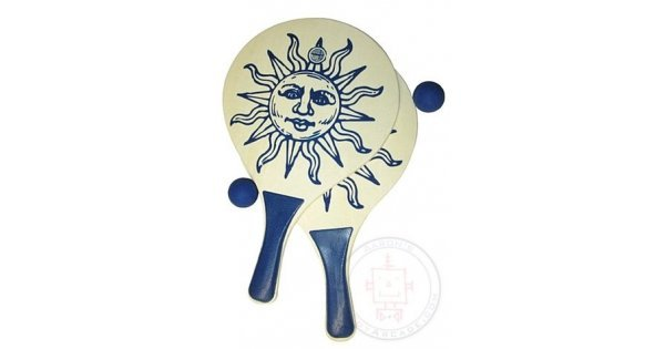 Jungle Animal Wooden Paddle Bat and Ball Game