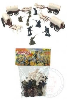 American Civil War Playset Four Wagons