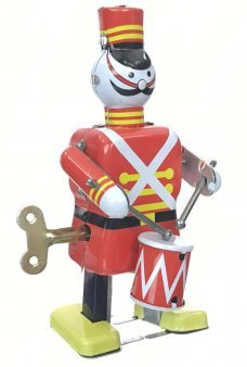 Holiday Soldier Drummer Tin Toy