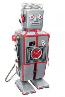 Cyborg of Yore Retro Robot Tin Toy