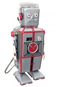 Cyborg of Yore Retro Robot Tin Toy