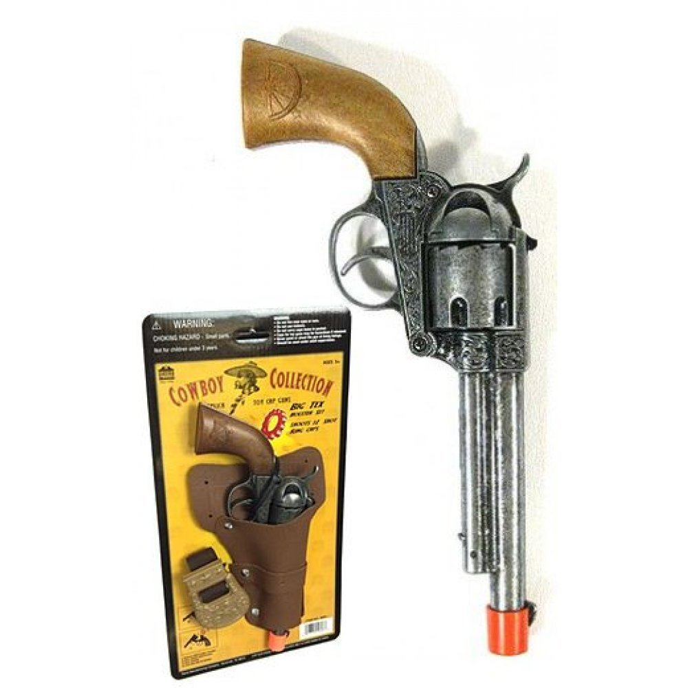 COWBOY BLUE GUNS//PISTOLS AND BLACK HOLSTER SET