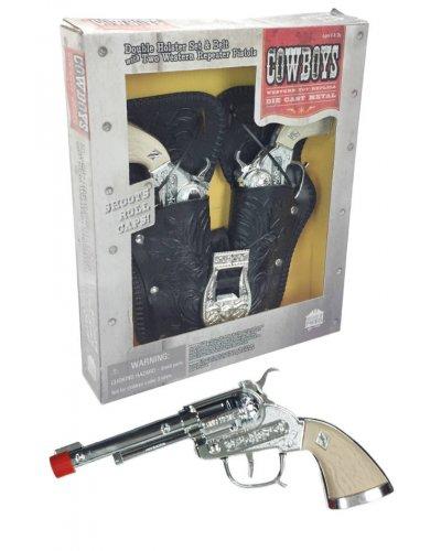 Cowboy Gunslinger Double Holster Set