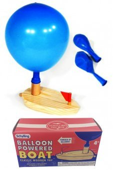 Balloon Powered Boat Wooden Classic