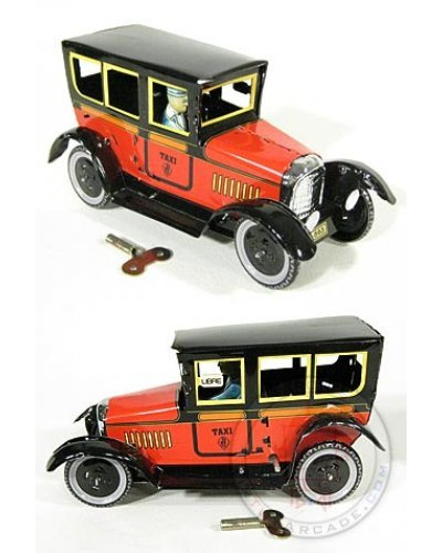 Paya Taxi Tin Toy Red Classic 1929
