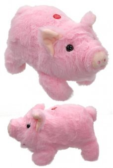 Pudgey the Piglet Soft Animated Piggy