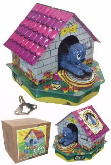 Fido Dog House Wind Up Money Bank