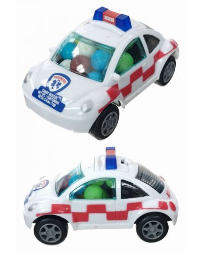 Rescue Car Candy VW Pull Back Toy