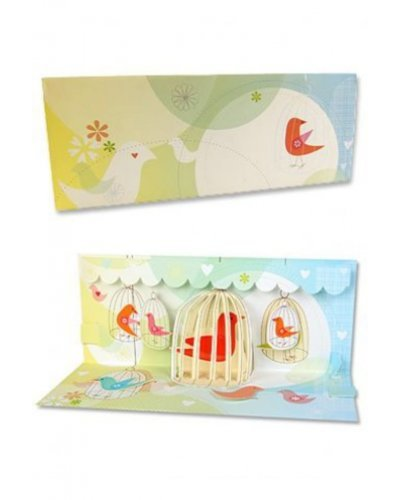 Bird Cages Gift Card 3D Pop Up
