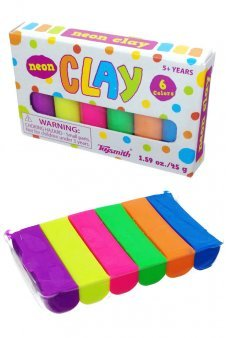 Mini Clay Set Neon Colors Sculpting Toysmith
