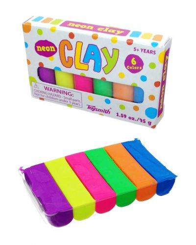 Mini Clay Set Neon Colors Sculpting Toysmith