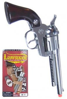 Lawman Silver Replica Pistol 12 Shot Ring Cap Gun