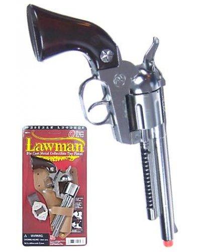 Lawman Silver Replica Pistol Cap Gun