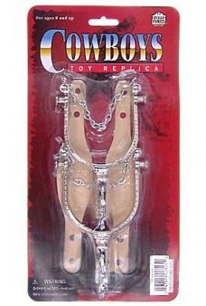 Cowboy Silver Spurs Western Set of 2