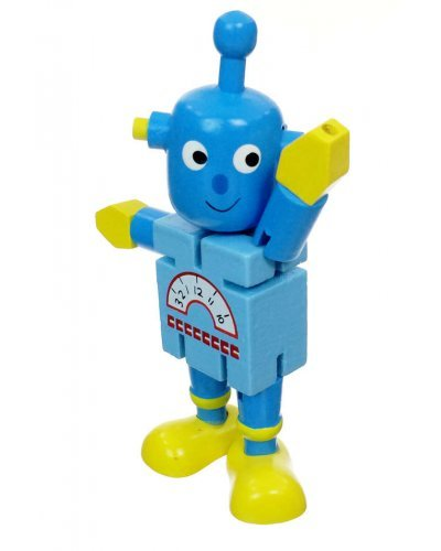 Edo Blue Robot Wood Posable
