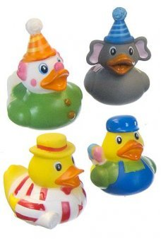 Circus Carnival Rubber Ducks Set of 4