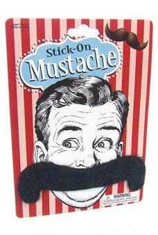 Handlebar Mustache Stick On 4 Inch