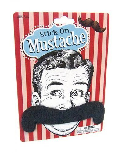 Handlebar Mustache Stick On 4 Inch