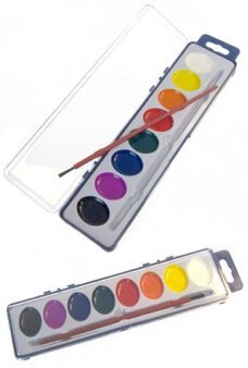 Watercolor 8 Bright Colors Paint Set