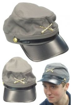 Civil War Confederate Grey Kepi Hat