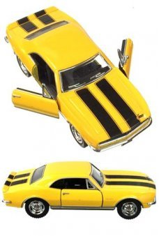 Chevy Camaro 1967 Z28 Yellow Toy Car