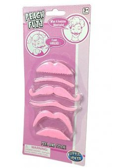 Peach Fuzz Feminine Moustaches Set of 6