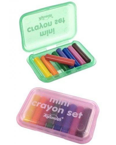 Mini Crayon Set 8 Colors Portable Case