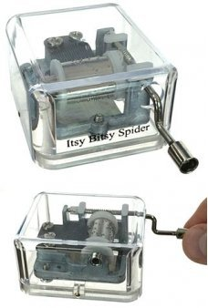 Itsy Bitsy Spider Windup Music Box