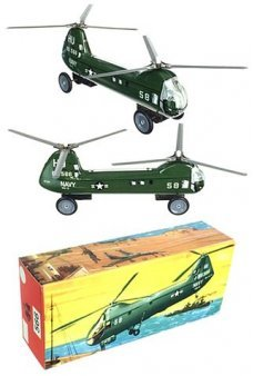 Navy Helicopter Vintage German Made