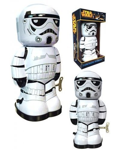 Star Wars Storm Trooper Tin Wind Up Robot
