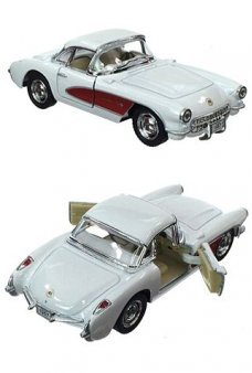 Corvette Toy Car 1957 White Metal