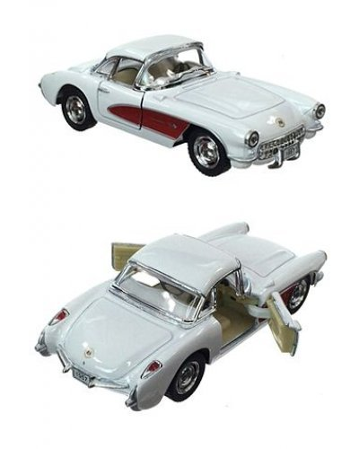 Corvette Toy Car 1957 White Metal