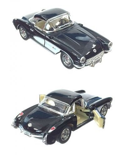 Corvette Toy Car 1957 Black Metal