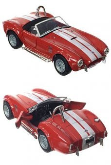 Shelby Cobra Toy Racer 1965 Red Metal