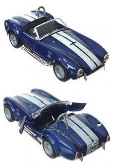 Shelby Cobra Toy Racer 1965 Blue Metal