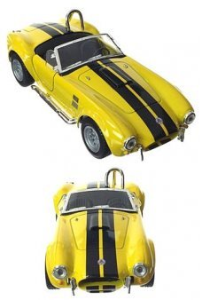 Shelby Cobra Toy Racer 1965 Yellow Metal