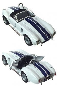 Shelby Cobra Toy Racer 1965 White Metal