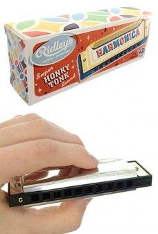 Harmonica Silver Honky Tonk Ridleys UK