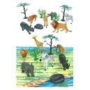 Wild Animals Playset in Carry Case