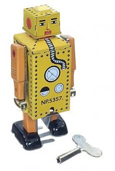Lilliput Little Robot Tin Toy Wind Up