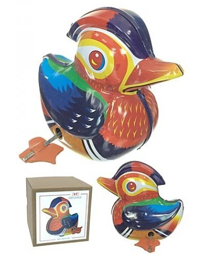 Mandarin Duck Colorful Tin Toy Exclusive
