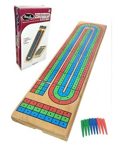 Cribbage Wooden Game Triple Track
