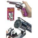 Texas Rose Silver Revolver Cap Gun