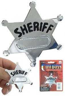 Western Sheriff Badge Silver Star