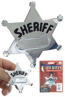 Western Sheriff Badge Silver Star