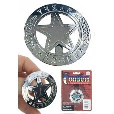 Texas Ranger Badge Circle Silver Star