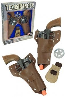 Texas Ranger Double 12 Shot Ring Cap Guns Set
