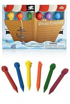 Pirate Crayons Art Set of 6