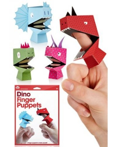 Dino Finger Puppets Colorful Set of 4